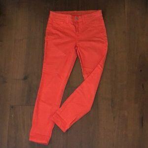 J Brand Tangerine Cropped Mid-rise Skinny Jeans